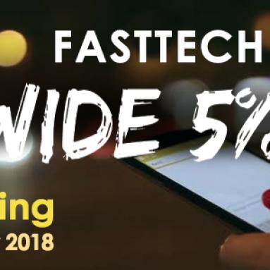 5% sur l'ensemble du site de FastTech