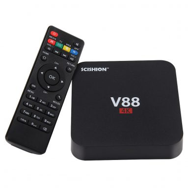 $4 discount for SCISHION V88 TV Box, free shipping US$ 28.99 (Code: HLWV88P) from TOMTOP Technology Co., Ltd