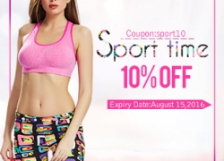 10% OFF for Sport Lingerie from BANGGOOD TECHNOLOGY CO., LIMITED