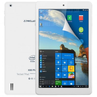 $77 with coupon for Teclast X80 Plus Tablet PC INTEL CHERRY TRAIL X5 Z8350 WHITE from GearBest