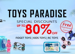 Special Discount UP To 80% OFF Toy Paradise Free Shipping from Zapals