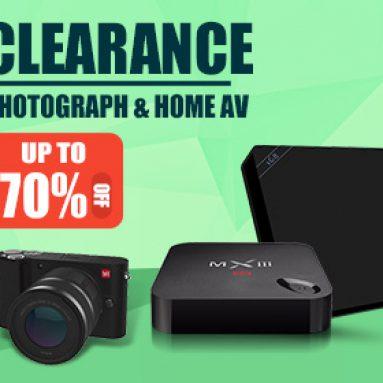 Extra 20% OFF pro snímání fotografií a TV boxů od společnosti BANGGOOD TECHNOLOGY CO., LIMITED
