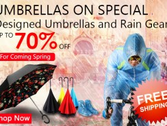 Up to 70% off for Umbrella and Raincoat Free Shipping from Zapals