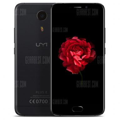 $211 with coupon for UMI Plus E 4G Phablet Black from GearBest