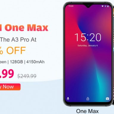Umidigi One Max ($ 179) Satın Alın Ve Ücretsiz Umidigi A3 Pro @Banggood En İyi Teklif Alın (50% Off)