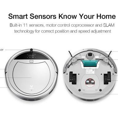 € 162 con cupón para VIOMI Smart 11 Sensors Recarga automática Control remoto Planificación Robot aspirador de ruta de BANGGOOD