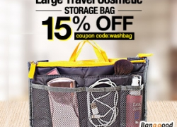 24% OFF Large Travel Toiletry Organizer Storage Bag Wash Cosmetic Bag Makeup Storage Case from BANGGOOD TECHNOLOGY CO., LIMITED