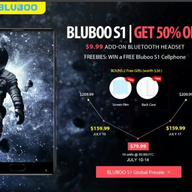 2017 En İyi Android Smartphone Blueboo S1 Flaş Satış $ 79.99 @ GearBest.com
