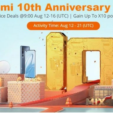 Xiaomi 10th Anniversary Promotion Sale @ GEARBEST