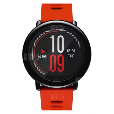$109 with coupon for Original Xiaomi AMAZFIT Sports Bluetooth Smart Watch  –  ENGLISH VERSION RED from GearBest