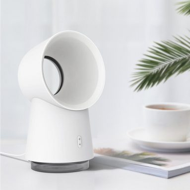 €18 with coupon for Xiaomi Happy Life 3 in 1 Mini Cooling Fan Bladeless Desktop Fan Mist Humidifier w/ LED Light from BANGGOOD