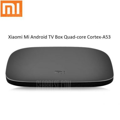 $65 with coupon for ( Official International Version ) Original Xiaomi Mi Android TV Box Quad-core Cortex-A53 EU PLUG  BLACK from GearBest