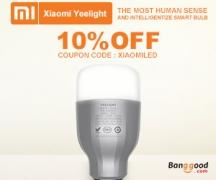 10% OFF Original Xiaomi Mi Yeelight 9W RGB E27 LED Wireless WIFI Control from BANGGOOD TECHNOLOGY CO., LIMITED