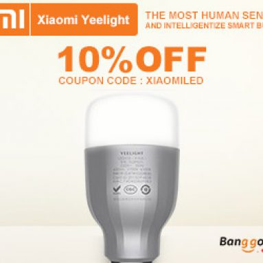 10% rabatt originale Xiaomi Mi Yeelight 9W RGB E27 LED Wireless WIFI Control fra BANGGOOD TECHNOLOGY CO., LIMITED