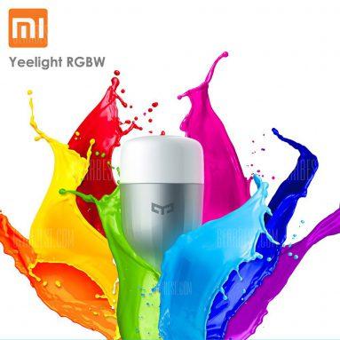 $ 9 s kuponem pro Xiaomi Yeelight RGBW E27 Smart LED žárovka od GearBest