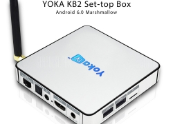 $65 with coupon for YOKA KB2 TV Box Amlogic S912 Octa Core EU plug – EU warehouse from gearBest